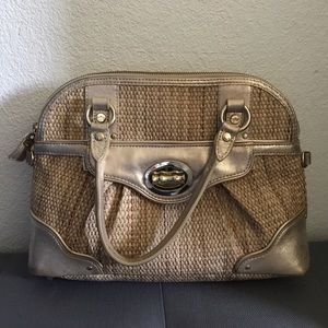 Elaine Turner brown woven handbag